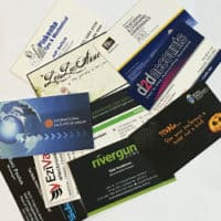 custom design and printed laminated business cards
