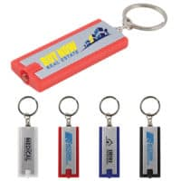 Promotional Rectangular Flashlight Keytag