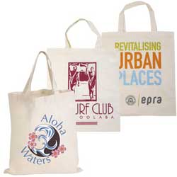 promotional Short Handle Calico Tote Bag
