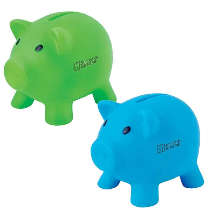 Pee Wee Pig Pvc Coin Bank