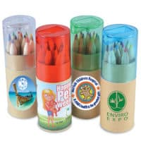 Promotional Coloured Pencils In Cardboard Tube With Sharpener