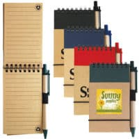 Promotional Tradie Cardboard Notebooks With Pens
