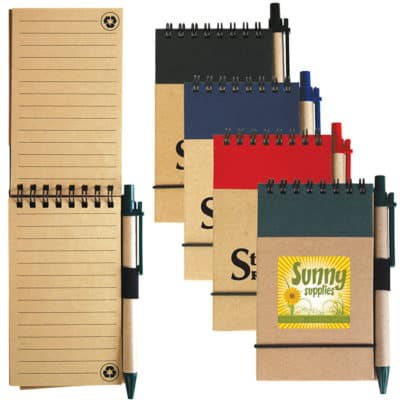 Tradie Cardboard Notebooks With Pens