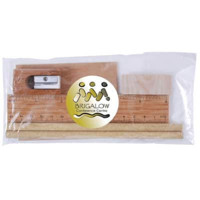 Bamboo Stationary Set In Cello Bag