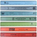 custom printed recycled 30cm plastic rulers