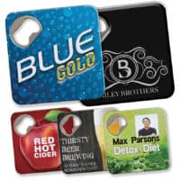personalised Quench Bottle Opener And Coasters
