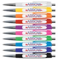 personalised arrow plastic pens