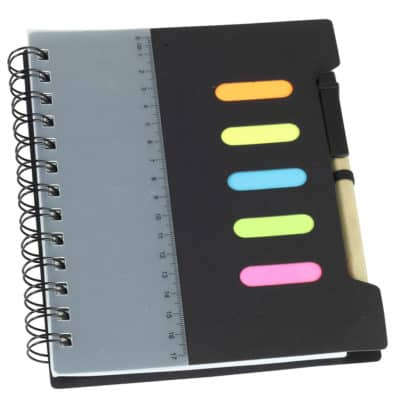 Notebook With Flags Pen And Ruler