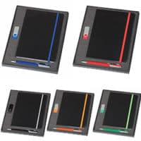 Promotional Notebook 2 Gb Swivel USB And Havanna Pen Set