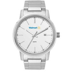 Watch With Promotional Folded Stainless Steel Band