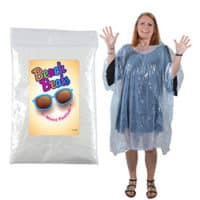 Promotional Disposable Poncho In Zip Lock Bag