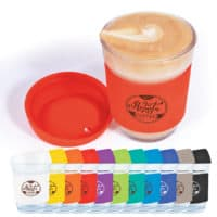 custom branded glass coffee cups