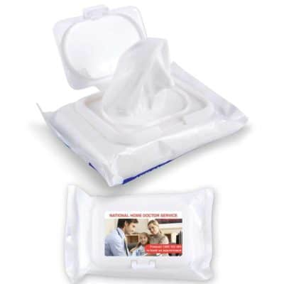 Anti Bacterial Wet Wipes In Pouch