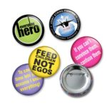 Custom Made 25mm Diameter Button Badges