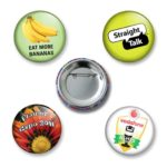 custom made 38mm diameter button badges