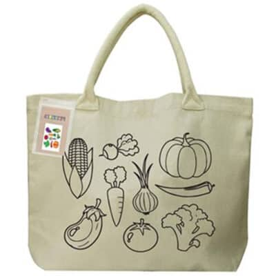 Colouring Calico Shopper With No Gusset