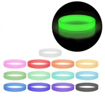 Printed Neon Glow 12mm Wide Silicon Wrist Bands