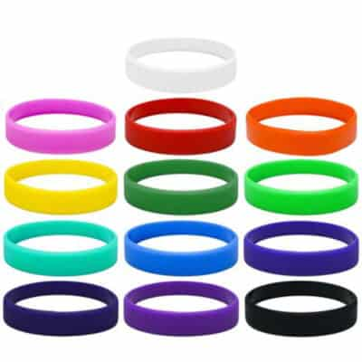 Thin 12mm Wide Silicon Wrist Bands
