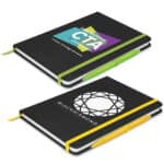 Omega Black A5 Notebook With Pen